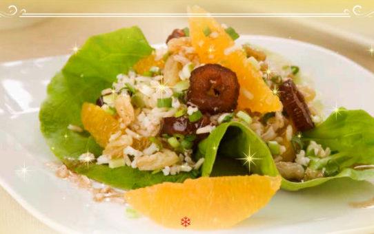 Салат из Коричневого риса с апельсинами